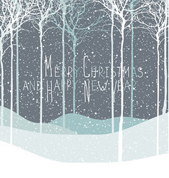 Merry Christmas postcard Calm winter scene vector image vector image