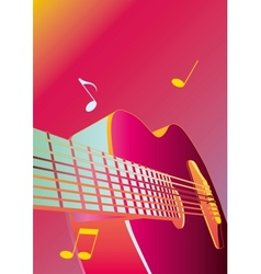 music background or poster with guitar vector image