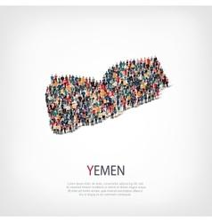People map country yemen vector