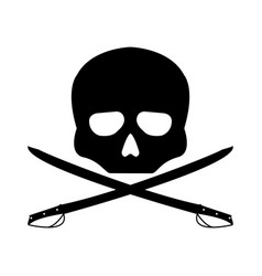 Pirate flag flat sign on white background vector