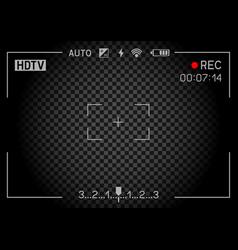 rec camera viewfinder dark vector image