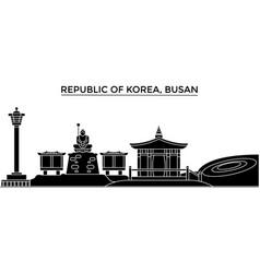 republic of korea busan architecture city vector image