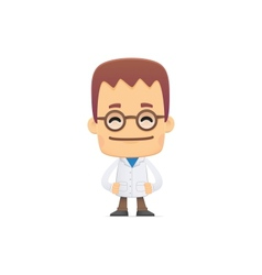 scientist in various poses vector image vector image