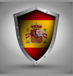 Shield with the spain flag vector