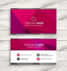 Simple pink business card vector