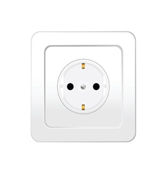 socket in white color vector image vector image