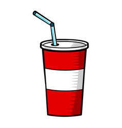 Soda pop fountain drink vector