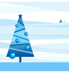 Styled new-year landscape vector