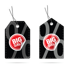 Tag with big sale sticker on it vector
