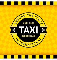 Taxi symbol with checkered background - 02 vector