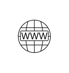 Www and globe internet line icon website browser vector