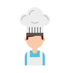 young confident chef man in uniform hat sign vector image