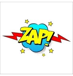 Zap sound effect vector
