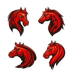 Horse head heraldic emblem for spot club team vector