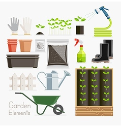 Conceptual of gardening garden tools equipment vector