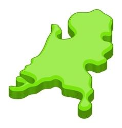 Holland map icon cartoon style vector