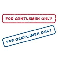 For gentlemen only rubber stamps vector