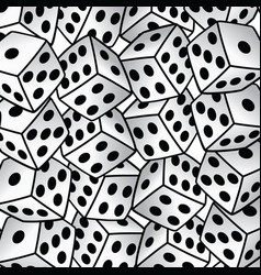 White dice risk taker gamble art background vector