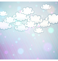 Rainbow clouds vector