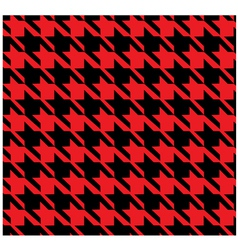 Houndstooth pattern red vector