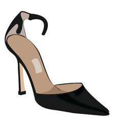 Woman shoe vector