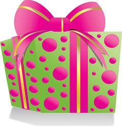 Giftbox pinkgreen vector