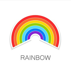 Rainbow logo vector