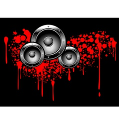abstract musical graffiti vector image
