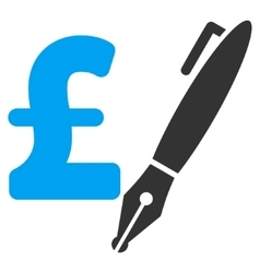 Pencil pound price flat icon symbol vector