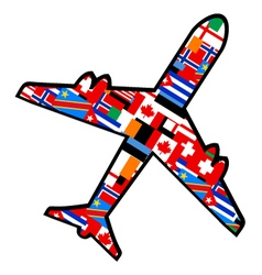 World flags plane vector image