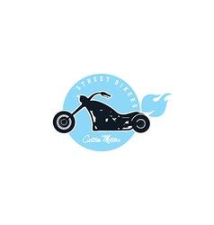Custom motorcycle chopper bike vector