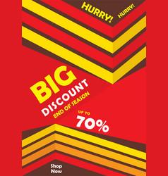 big discount banner design vector image vector image