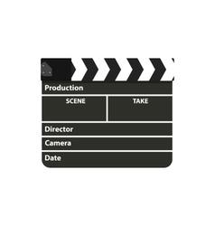 Black clapperboard Movie clapper board vector image vector image