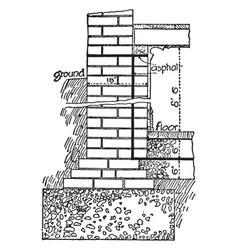 Brickwork header vintage engraving vector
