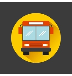 Bus vehicle icon vector