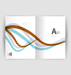 business brochure flyer tempalate wave and line vector image vector image