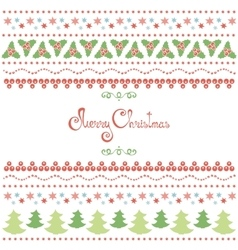 Christmas doodle elements set vector image