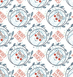 Christmas pattern with polar bears vector image vector image