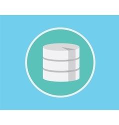 database flat vector image