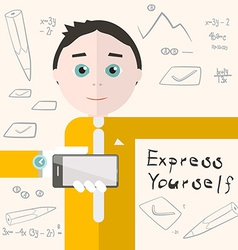 Express Yourself with Man - Student or Busin vector image vector image