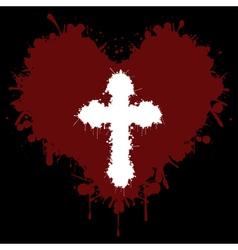 Faith in the heart vector