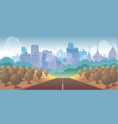 forest city and road vector image vector image