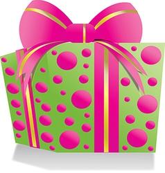 Giftbox pinkgreen vector