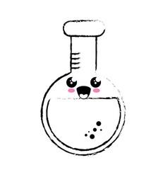 Kawaii chemical flask icon vector