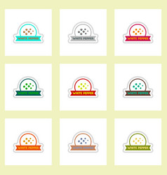 Label icon on design sticker collection vector
