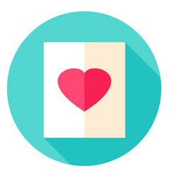 Love paper circle icon vector