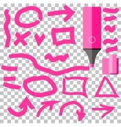 Marker line element set flat design vector
