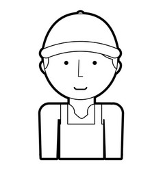 Mechanic worker with overalls vector