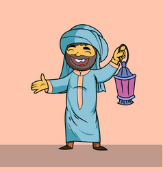 Muslim man vector