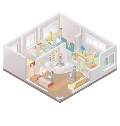 Nursing home assisted-living facility vector